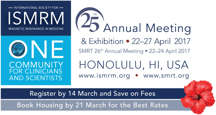 Attending 2017 ISMRM Conference in Honolulu